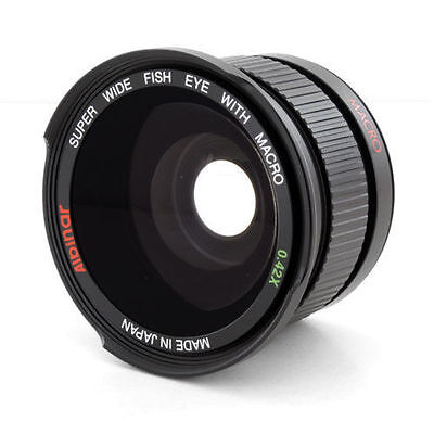 Fisheye Wide Angle Lens 0.42X made in Japan for Nikon Nikkor 50mm f1.4D f/1.4