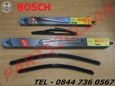 BMW 1 Series Front & Rear Flat Wiper Blades Bosch 2004- 116 118 120 123 125 130