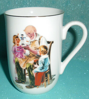 "Norman Rockwell ""the Toymaker"" Cup Mug 1982"