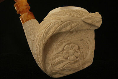 MAGNOLIA Self Sittting Meerschaum Tobacco Pipe in a fitted CASE 2639 Pipa SALE !