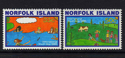 Norfolk Is.1985 Youth Year Set Sg 369-370 Mnh.