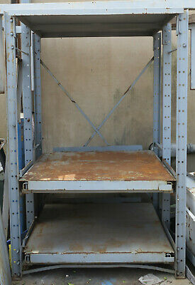 Heavy Duty Roll Out Shelving / Tool and Die Shelf Rack