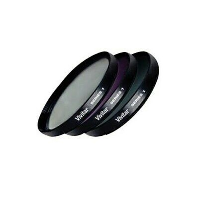 Vivitar 37  37mm Mutli Coated Filter Kit: UV + CPL +  FLD