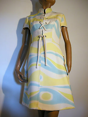 Chic Vintage Top Robe Twiggy Annees 60 Dress Vtg Sixties Kleid Abito  (36/38)