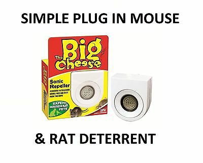 Deter Mice Mouse Rat Vermin Rodent Plug In Indoor Ultra Sonic Repeller Repellent