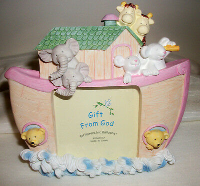 """Baby Noah""""s Ark Picture Frame"""