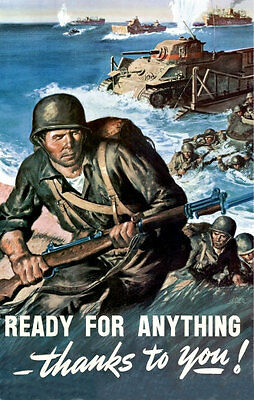 Ready For Anything #1 - 1943 WWII Poster