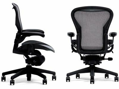 Herman Miller Fully Loaded Posture fit Size B Aeron Chairs Open – Herman Miller Aeron Task Chair