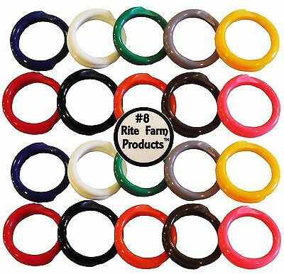 """20 Multi Colored #8 Leg Bands 1/2"""" Chicken Poultry Chick Quail Pigeon Duck Goose"""