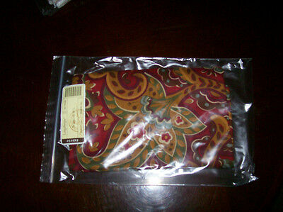 Longaberger Fabric NAPKINS Set of 2 Crimson Hill -  New & On Hand