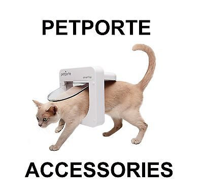 Petporte Microchip Pet Porte Cat Flap 5M Extension Cable & White & Brown Tunnels