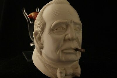 WINSTON CHURCHILL Meerschaum Pipe made by BAGLAN 2859 in a gift case NEW pipa