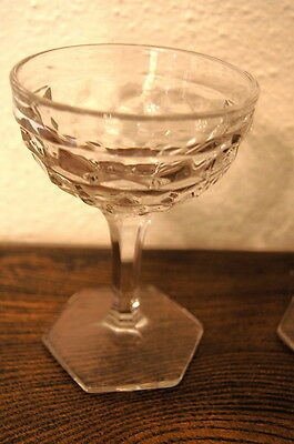 Fostoria American Stems, Footed Cocktail Glasses, Set of Four