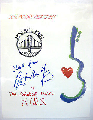 NEIL YOUNG 10th Anniversary Bridge School Benefit Poster