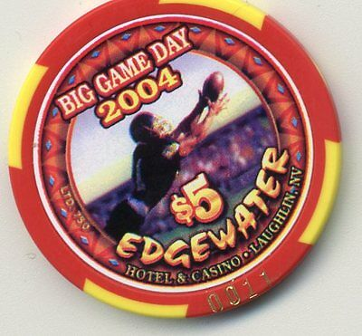 Edgewater 2004 Big Game Day  Numbered  Laughlin  Casino $5 Chip