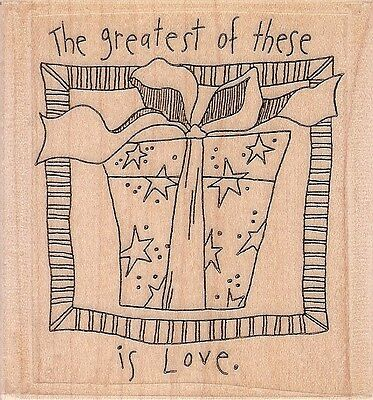 THE GREATEST OF THESE IS LOVE... Mounted Rubber Stamp - By Effie Glitzfinger!