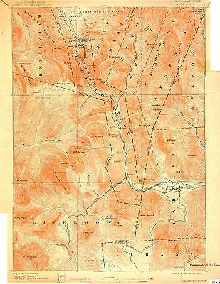 74 Vintage USGS Topo Maps of Northern NEW HAMPSHIRE CD