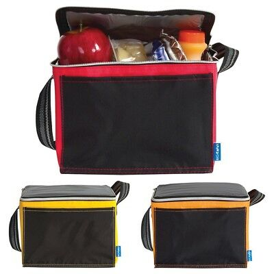 Zipped Insulated Cooler Bag - Lunch Time Sandwich Drink Cool Chilled Picnic Ice