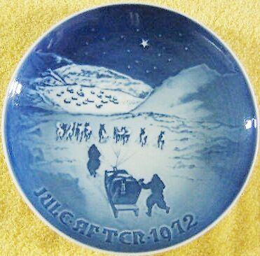 Jul i Grenland/ Christmas in Greenland 1972 Christmas  Collector Plate