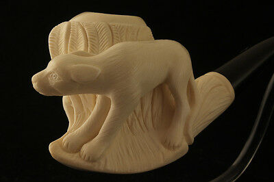 DOGY & BABY DEER Meerschaum Tobacco Pipe in a fitted CASE 2882 Pipa a Great GIFT