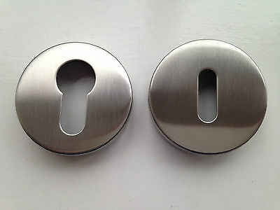 Escutcheon Plate Set Euro Profile or Keyhole – Polished or Satin Stainless Steel