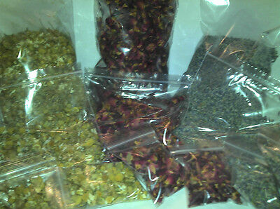 Dried flowers use for confetti, pot-pourri, soap making, room fragrancer, etc...