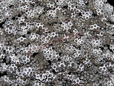 500 x Antique Silver Coloured  6mm Bead Caps Jewellery Findings Craft Beads A63