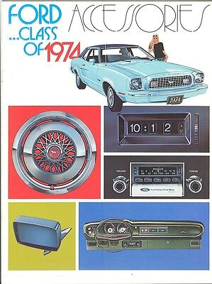 1974 Ford Auto Accessories Brochure Mustang/Ford/Torino