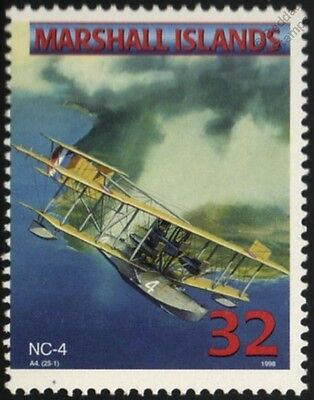 US Navy CURTISS NC-4 FLYING BOAT Seaplane Aircraft Airplane Mint Stamp