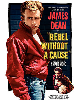 """James Dean - Rebel Without a Cause Movie Poster, 6.5""""x10"""" Photo"""