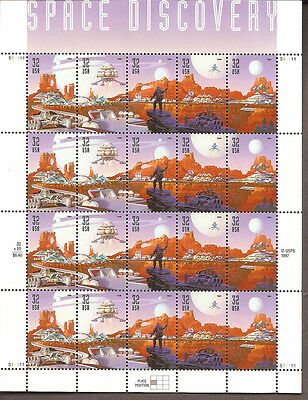 3238-42 MINT 20@$.32 STAMP SHEET SPACE DISCOVERY