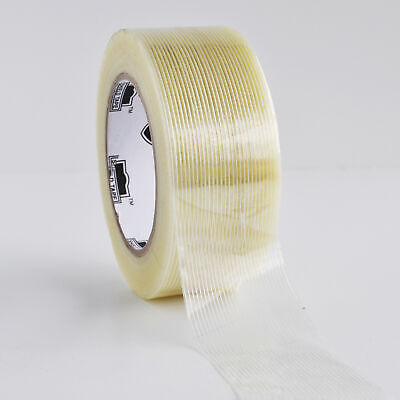 "Filament Tape 2"" x 60 Yard 4 Mil Fiberglass Reinforced Packing Tape 12 Rolls"
