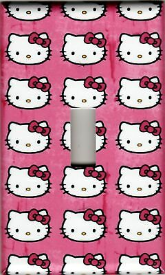 Hello Kitty Pink #1 Single Light Switch Plate Cover