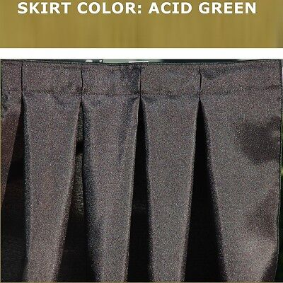 14 Foot Acid Green Box Pleat Table Skirt & Free Velcro Skirting Clips!
