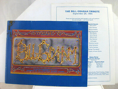 BILL GRAHAM TRIBUTE Booklet and Program