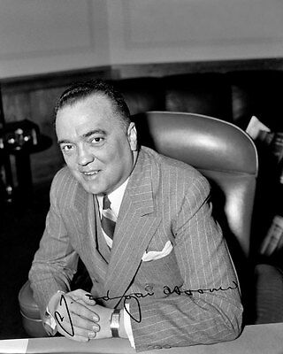J Edgar Hoover 1940 FBI Autographed Repro Photo 8X10 - Buy 2 Get 1 Free