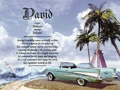 1957 Chevy Name Meaning Prints Personalized