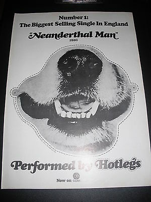 Hotlegs - Hot Legs - Neanderthal Man - Dog Snout Mask 1970 Print Ad