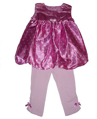 Baby Girls Pink Dress Leggings Set Party Outfit 0-3 Upto 18 Months  New