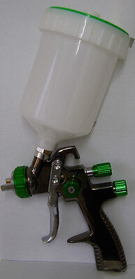 LVLP Gravity Spray Gun 1.3 - Low air consumption - Only 4.3cfm - Waterbased