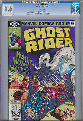 Ghost Rider #66 CGC 9.6 1982 Wail of the Wind Witch with a  Circus Cover