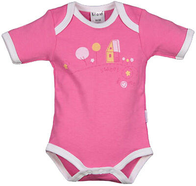 Liliput Body Kurzarm Sweet Home Gr. 50/56 (Pink)