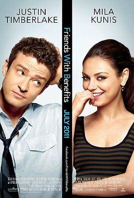 Poster Amici Di Letto Justin Timberlake Mila Kunis Friends With Benefits #1