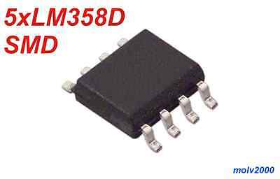 5x LM358D LM358 358 SMT SMD Doble Operacional - OPERATIONAL AMPLIFIERS SOP8