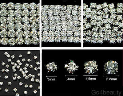Selections of Sew On Clear Crystal Diamante Rhinestones (Rose Montee) - Sewing