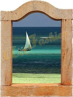 WALL STICKER STICKERS ADESIVI ADESIVO TROMPE L'OEIL ART FINESTRA WINDOWS WS0522a
