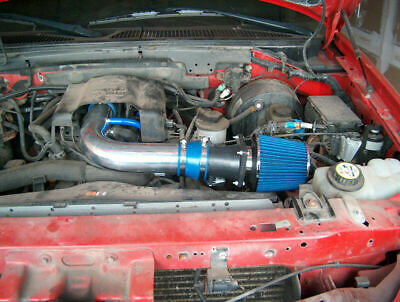 BCP BLUE 97-03 Ford F150/Expedition 4.6/5.4L V8 Air Intake Racing System +Filter