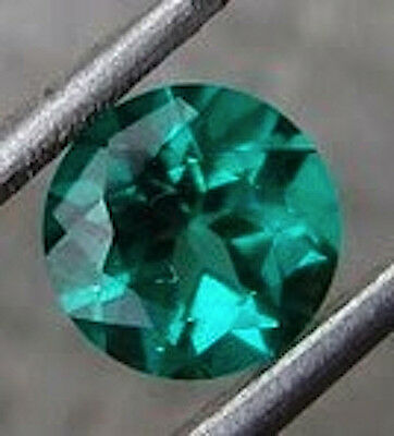 AAA Rated Round Bright Green Hydrothermal Lab Created Emerald (3mm to 9mm)