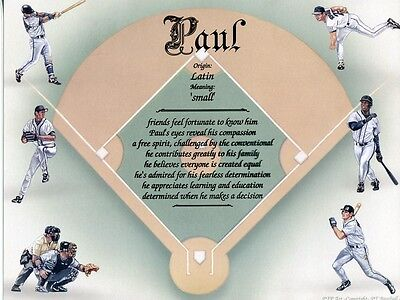 """""""Baseball 2"""" Name Meaning Print Personalized (Sports)"""