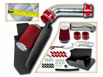 Coated Black Red 2PC For 1996-1999 Chevy K1500 Suburban 5.0L 5.7 V8 Air Intake